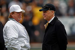OAKLAND, CA - DECEMBER 09: Owner Mark Davis of the Oakland Raiders talk to owner Art Rooney II of the Pittsburgh Steelers before the game at O.co Coliseum on December 9, 2018 in Oakland, California. Photo by Jason O. Watson/Getty Images) *** Local Caption *** Mark Davis; Art Rooney II