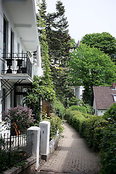GERMANY HAMBURG 18MAY14 - Steps and alleyways to residential property in Hamburg Blankenese.<br /> <br /> <br /> <br /> jre/Photo by Jiri Rezac<br /> <br /> <br /> <br /> © Jiri Rezac 2014
