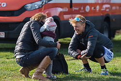 Iris Slappendel chats with Martine Bras and her daughter - 2016 Omloop van het Hageland - Tielt-Winge, a 129km road race starting and finishing in Tielt-Winge, on February 28, 2016 in Vlaams-Brabant, Belgium.
