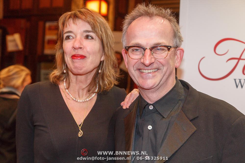 NLD/Amsterdam/20160216 - Filmpremiere Familieweekend, Ate de Jong en partner