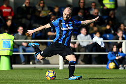 January 21, 2018 - Bergamo, Italy - Andrea Masiello of Atalanta  during the Italian Serie A football match Atalanta Vs Napoli on January 21, 2018 at the 'Atleti Azzurri d'Italia Stadium' in Bergamo. (Credit Image: © Matteo Ciambelli/NurPhoto via ZUMA Press)
