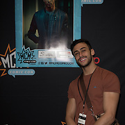London, UK. 25nd May, 2018. Class star Fady Elsayed signing at MCM Comic Con event at London Excel.