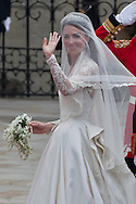 National Pictures.PH: Nick Edwards.Kate Middleton arriving at westminster Abbey today before her Wedding to Prince William..29/04/11