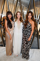 Left to right, DIONNE BROMFIELD, ROSIE FORTESCUE and ZARA MARTIN at the launch of the Odabash Macdonald Resort 2014 swimwear collection at ME Hotel, London on 25th June 2013.