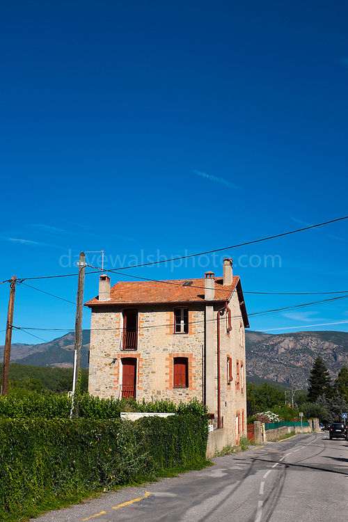 House in the village of Vernet les Bains, Pyrenees Orientales, France