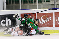 27.02.2015, Hala Tivoli, Ljubljana, SLO, EBEL, HDD Telemach Olimpija Ljubljana vs HC TWK Innsbruck, 6. Qualification Round, in picture Aljaz Ogrizek (HDD Telemach Olimpija, #87) during the Erste Bank Icehockey League 6. Qualification Round between HDD Telemach Olimpija Ljubljana and HC TWK Innsbruck at the Hala Tivoli, Ljubljana, Slovenia on 2015/02/27. Photo by Morgan Kristan / Sportida