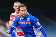 Grant Holt during the Sky Bet League 1 match between Rochdale and Doncaster Rovers at Spotland, Rochdale, England on 2 April 2016. Photo by Daniel Youngs.