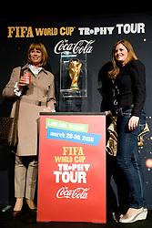 and Tamara Glavina Knafelc at VIP reception of FIFA World Cup Trophy Tour by Coca-Cola, on March 29, 2010, in BTC City, Ljubljana, Slovenia.  (Photo by Vid Ponikvar / Sportida)