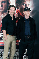 19.08.2013, Hotel Villa Magna, Madrid, ESP, Filmpremiere, Rush, im Bild Film director Ron Howard (r) and actor Daniel Bruhl // during photocall for the movie Rush at the Villa Magna Hotel, Madrid, Spain on 2013/08/19. EXPA Pictures © 2013, PhotoCredit: EXPA/ Alterphotos/ Acero<br /> <br /> ***** ATTENTION - OUT OF ESP and SUI *****