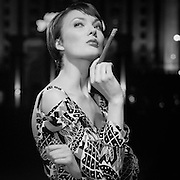 model > photographed for Cigar clan Russia