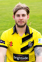 Chris Dent of Gloucestershire Cricket poses for a headshot in the NatWest T20 Blast kit - Mandatory by-line: Robbie Stephenson/JMP - 04/04/2016 - CRICKET - Bristol County Ground - Bristol, United Kingdom - Gloucestershire  - Gloucestershire Media Day