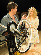 The Village Bike<br /> by Penelope Skinner<br /> directed by Joe Hill-Gibbins<br /> at The Royal Court Theatre, London, Great Britain <br /> press photocall<br /> 30th June 2011<br /> <br /> Dominic Rowan (as Oliver)<br /> Romola Garai (as Becky)<br /> <br /> Photograph by Elliott Franks