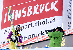 Emanuel Chedal of France after he competed during Final round of the FIS Ski Jumping World Cup event of the 58th Four Hills ski jumping tournament, on January 3, 2010 in Bergisel, Innsbruck, Austria.(Photo by Vid Ponikvar / Sportida)
