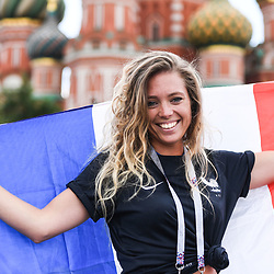 A french Fan before the FIFA World Cup Group C match between Denmark and France at Luzhniki Stadium on June 26, 2018 in Moscow, Russia. (Photo by Anthony Dibon/Icon Sport)
