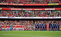 Football - 2019 Emirates Cup - Arsenal vs. Lyon<br /> <br /> A minutes applause for ex-Arsenal player Jose Antonio Reyes who was killed in a car crash earlier this year, at the Emirates Stadium.<br /> <br /> COLORSPORT/ASHLEY WESTERN