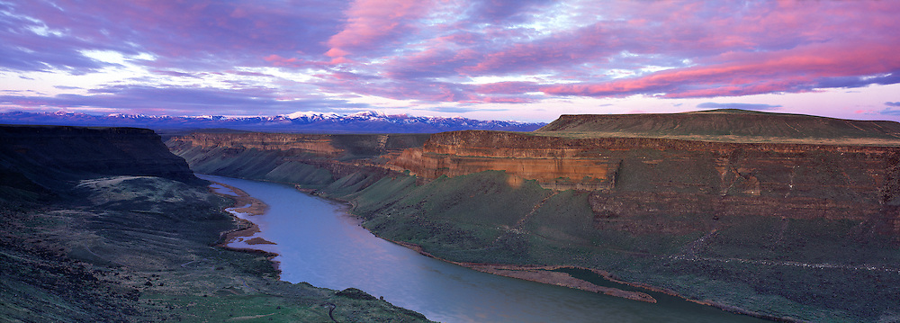 Snake River Canyon at Birds of Prey Natural Area and the Owyhee, Canyonlands,  Mountains sunrise, Idaho