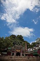 Beautiful old A-ma Temple in Macau is dedicated to Mazu lying beside Macau's waterfront.
