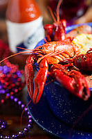 Crawfish boil at Graham's Grill in Kirkwood, MO, a mardi gras speciality.