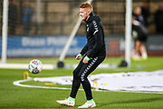 Forest Green Rovers Matthew Worthington(21) warming up during the EFL Sky Bet League 2 match between Cambridge United and Forest Green Rovers at the Cambs Glass Stadium, Cambridge, England on 2 October 2018.