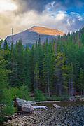 Otis Peak over Bear Lake, Rocky Mountain National Park, Colorado