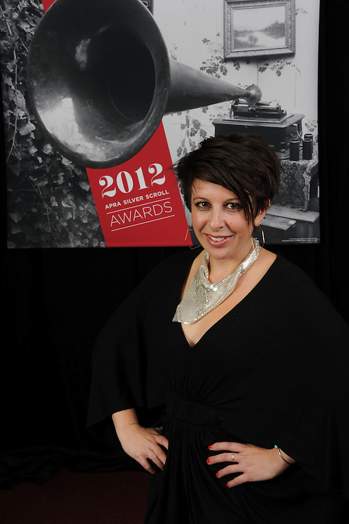 Stephanie Brown, finalist of the APRA Silver Scrolls Awards 2012. Auckland Town Hall. 13 September 2012.