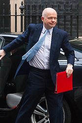London, February 3rd 2015. Members of the cabinet gather at Downing Street for their weekly meeting. PICTURED: William Hague, First Secretary of State, Leader of the House of Commons.