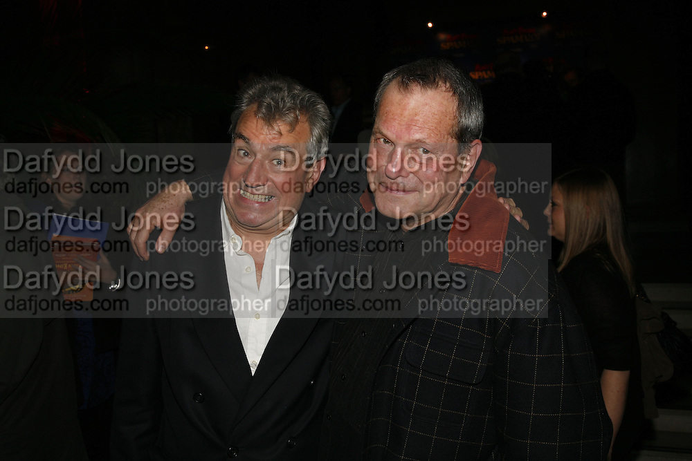 Terry Jones and Terry Gilliam. Opening of Spamalot at the Night Palace Theatre and afterwards at Freemasons Hall Gt. Queen St.  London. 17 October 2006. -DO NOT ARCHIVE-© Copyright Photograph by Dafydd Jones 66 Stockwell Park Rd. London SW9 0DA Tel 020 7733 0108 www.dafjones.com