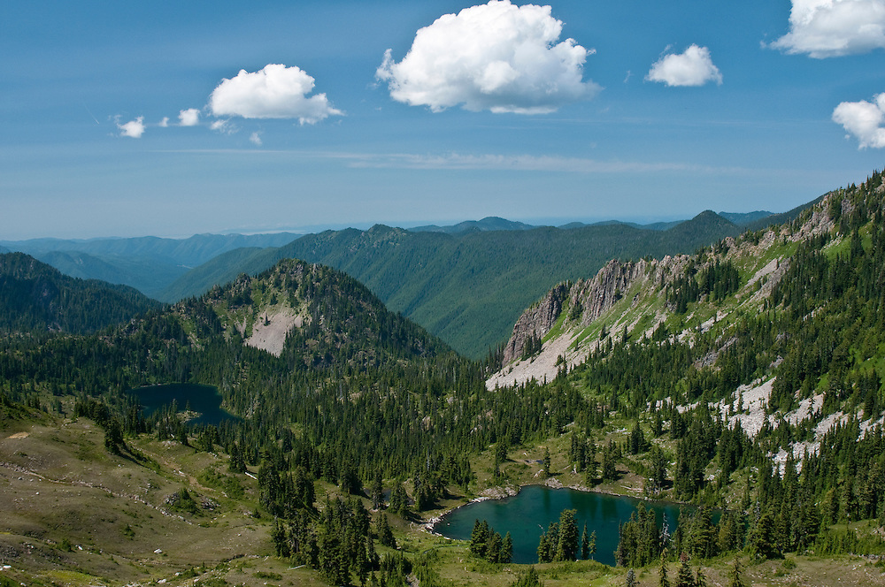 Lakes Basin from the High Divide Trail, Olympic National Park, Washington.