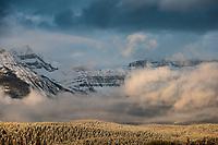 Sunrise on Lake Louise Mountains., Alberta, Canada, Isobel Springett