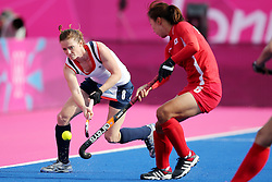 Olympic Games London 2012 - Olympische Spiele London 2012, Great Britain - Grossbritanien, Hockey women, Great Britain vs. Korea, Helen Richardson / GBR competes with Seon Mi Park / KOR, *** Local Caption *** © pixathlon
