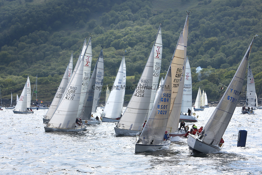The Silvers Marine Scottish Series 2014, organised by the  Clyde Cruising Club,  celebrates it's 40th anniversary.<br /> Day 2, combined start, Sigma 33 and CYCA Class 6<br /> GBR7029, Farr e Nuff, John Kent, LSC/FYC, Farr 727, 6731Y , Zebedee, L. Downie / G. Wilson , FYC , GK24, GBR4270, Sigmatic, Donald &amp; Anita Mclaren, CCC/Helensburgh SC<br /> Racing on Loch Fyne from 23rd-26th May 2014<br /> <br /> Credit : Marc Turner / PFM