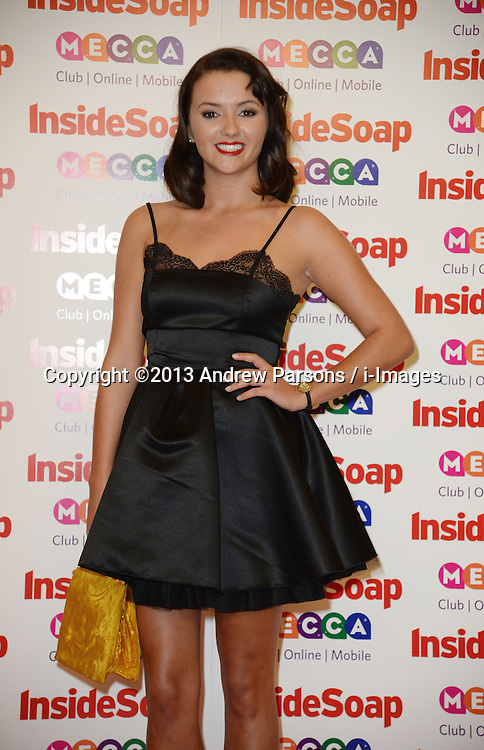 Inside Soap Awards.<br /> Jasmyn Banks arrives for the Inside Soap Awards, Ministry of Sound, London, United Kingdom,<br /> Monday, 21st October 2013. Picture by Andrew Parsons / i-Images