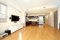 Living Room at 119 Fulton Street