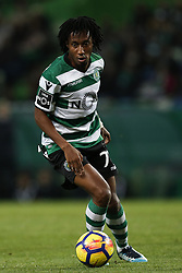 December 1, 2017 - Lisbon, Portugal - Sporting's forward Gelson Martins in action  during Primeira Liga 2017/18 match between Sporting CP vs CF Belenenses, in Lisbon, on December 1, 2017. (Credit Image: © Carlos Palma/NurPhoto via ZUMA Press)