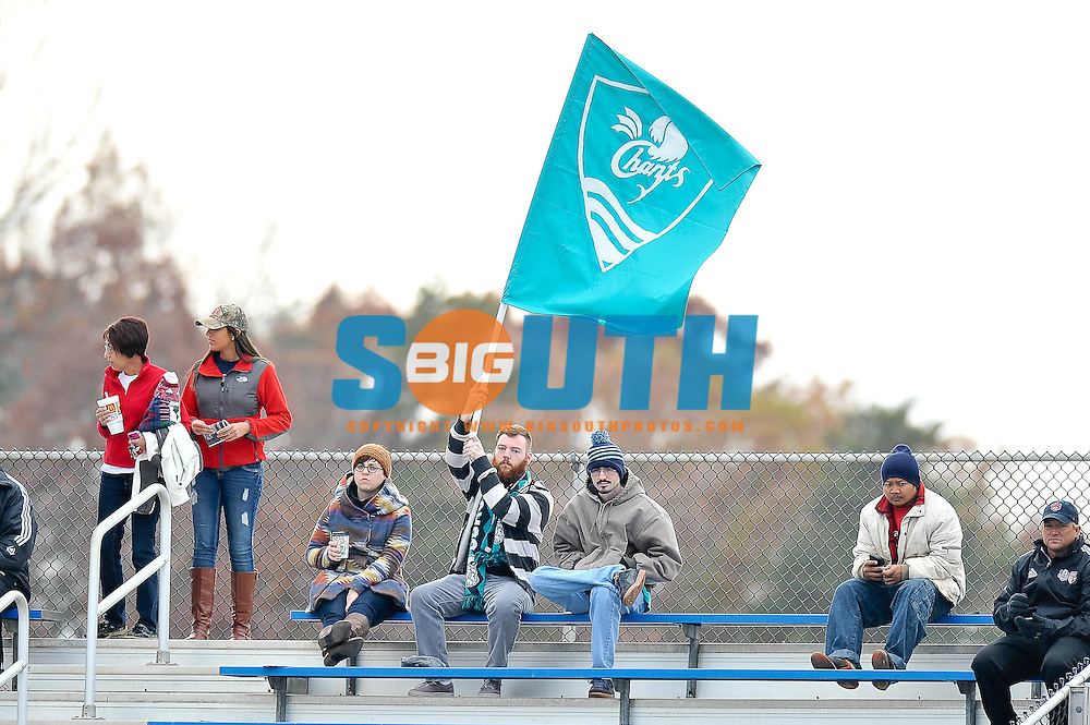 16 November 2014: The Big South Conference hosted their 2014 Final of men's soccer championship, Thursday at Bryan Park in Greensboro, North Carolina.  Radford vs. Coastal Carolina. Credit: Todd Drexler/BigSouthPhotos.com