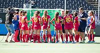 BREDA - team Spanje  tijdens Spanje-China bij de 4 Nations Trophy dames 2018 .  COPYRIGHT  KOEN SUYK
