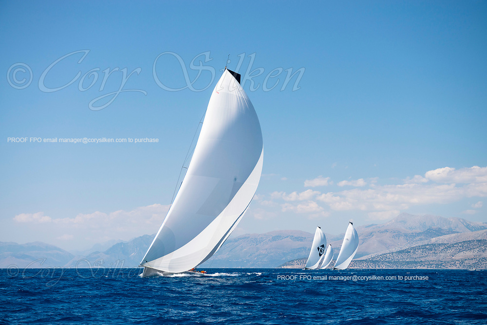 Momo sailing in the  Corfu Challenge, day two.
