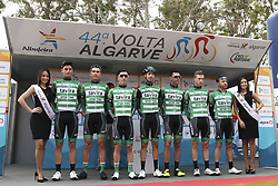 February 14, 2018 - Lagos, Portugal - Sporting/Tavira before the 1st stage of the cycling Tour of Algarve between Albufeira and Lagos, on February 14, 2018. (Credit Image: © Str/NurPhoto via ZUMA Press)