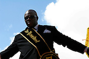 New Orleans, Louisiana. United States. February 28th 2006..Zulu vice president Naaman Stewart during the Zulu Parade on Canal Street..