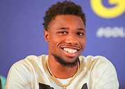 Noah  Lyles (USA) at a press conference prior to the 39th Golden Gala Pietro Menena in an IAAF Diamond League meet  in Rome on Wednesday, June 5, 2019. (Jiro Mochizuki/Image of Sport)