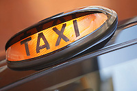 London taxi sign close up