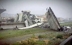 August 14, 2018 - Genoa, Italy - A highway bridge has partially collapsed near Genoa Italy, prompting fears of injuries and deaths. (Credit Image: © Sec/Ropi via ZUMA Press)
