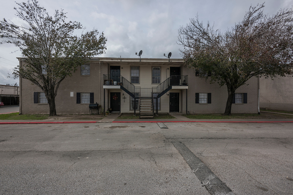 Horizon Apartments, Cypress Point Managment, in the pre-renovation state approximately one week after take-over.