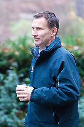 Downing Street, London, December 13th 2016. Health Secretary Jeremy Hunt arrives at the weekly meeting of the cabinet at Downing Street, London.
