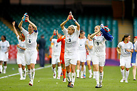 Women's Football - London 2012 Olympics - Great Britain vs. New Zealand<br /> <br /> <br /> TeamGB cheer the crowd after winning their match at The Millennium Stadium, Cardiff