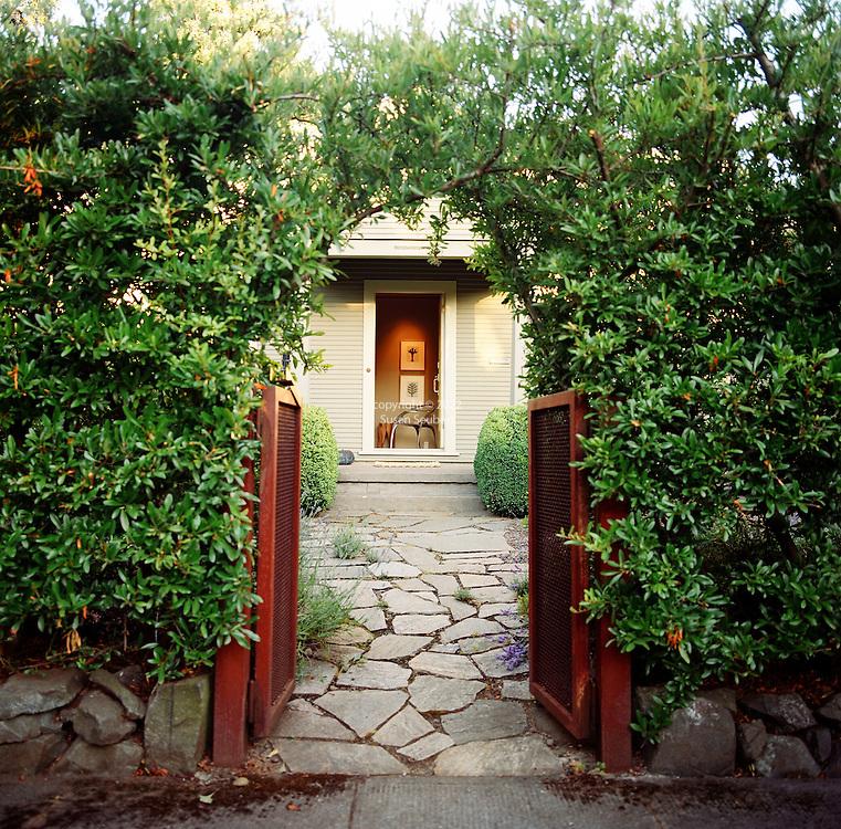 garden gate entrance to private home