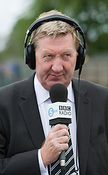© Licensed to London News Pictures. 29/02/12. LONDON, UK. Len McCluskey has said unions should consider disrupting the London Olympics as part of their campaign against Government cuts. FILE PICTURE:Unite general secretary Len McCluskey  during a 5 Live radio interview at Bedfont Football club today (12/05/2011).  British Airways and the Unite union have reached an agreement to settle their long-running industrial dispute. A mass meeting of Unite members voted almost unanimously to put a new deal to a ballot of around 7,000 workers, with a recommendation to accept. See special instructions for usage rates. Photo credit should read Ben Cawthra/LNP