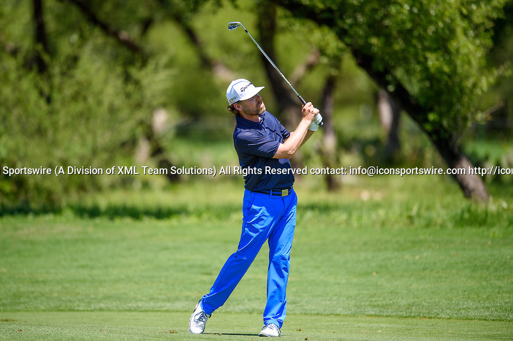 21 April 2016:  Justin Leonard during the first round of the Valero Texas Open at the TPC San Antonio Oaks Course in San Antonio, TX. (Photo by Daniel Dunn/Icon Sportswire)