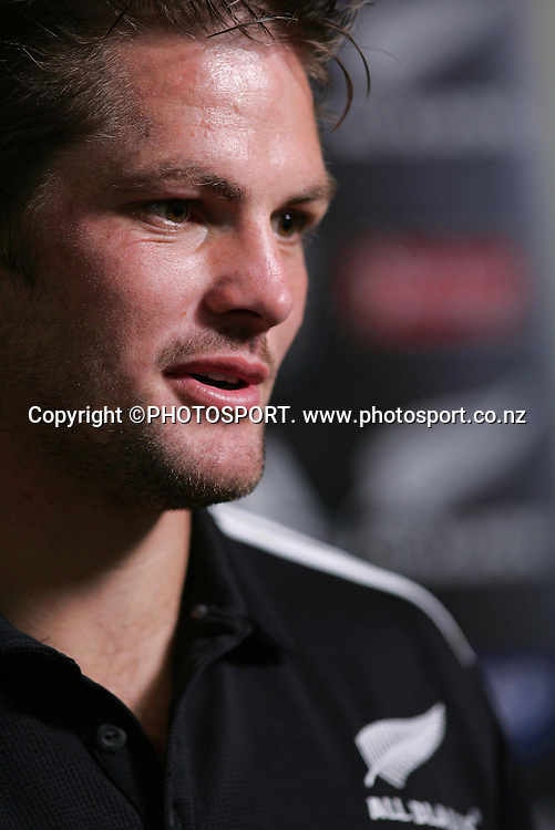 All Blacks captain Richie McCaw during the All Blacks media session held at the Heritage Hotel, Auckland, on Wednesday 30 May 2007. Photo: Andrew Cornaga/PHOTOSPORT