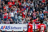 ALKMAAR - 01-05-2016, AZ - de Graafschap, AFAS Stadion, supporters juichen nadat AZ speler Vincent Janssen de 1-1 heeft gescoord.